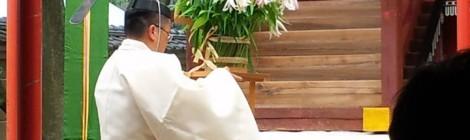 6月17日、率川神社のゆり祭り斎行